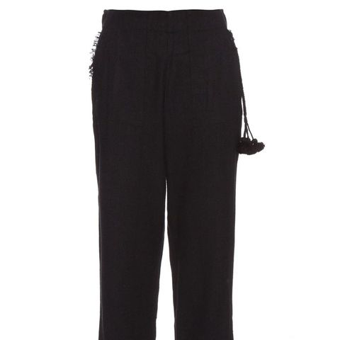 Remy Silk-Blend Cropped Trousers