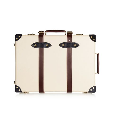 The Goring 21 Leather-Trimmed Travel Trolley