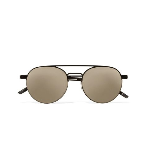 Spartan Aviator-Style Metal Sunglasses