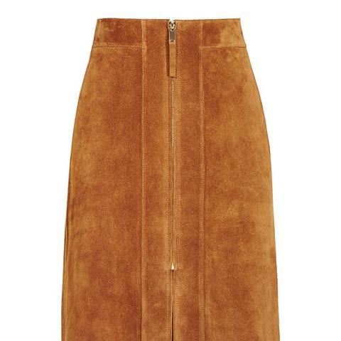 Joss Suede A-Line Skirt