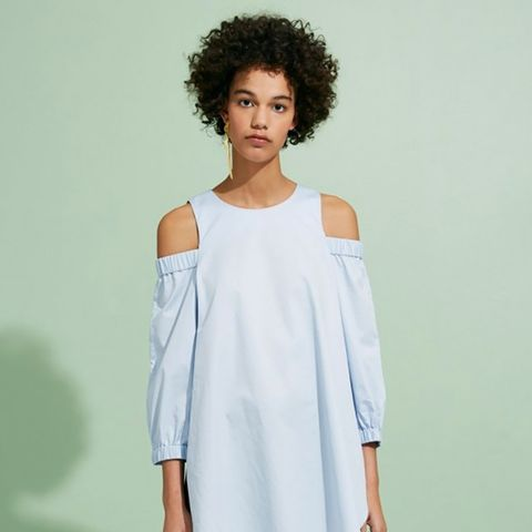 Cut-Out Shoulder Cotton Tunic