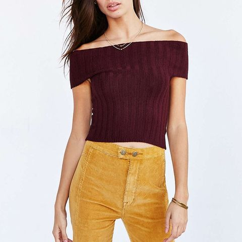Off-the-Shoulder Sweater Top