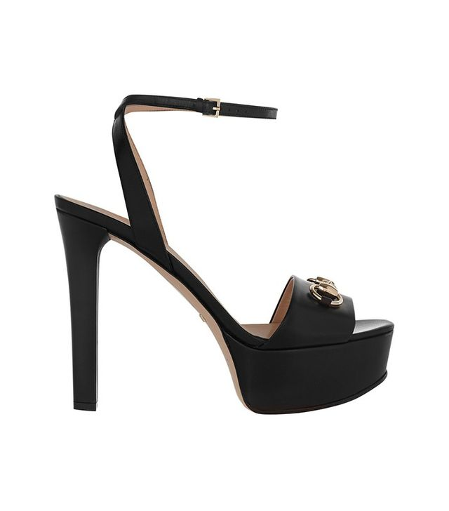 Gucci Horsebit-Detailed Leather Platform Sandals