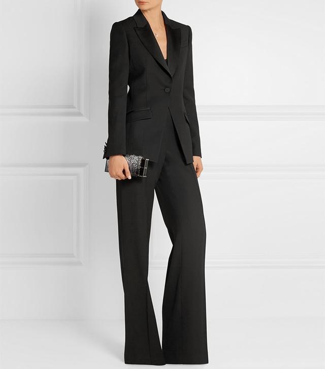 Pallas Castor Satin-Trimmed Grain de Poudre Wool Suit