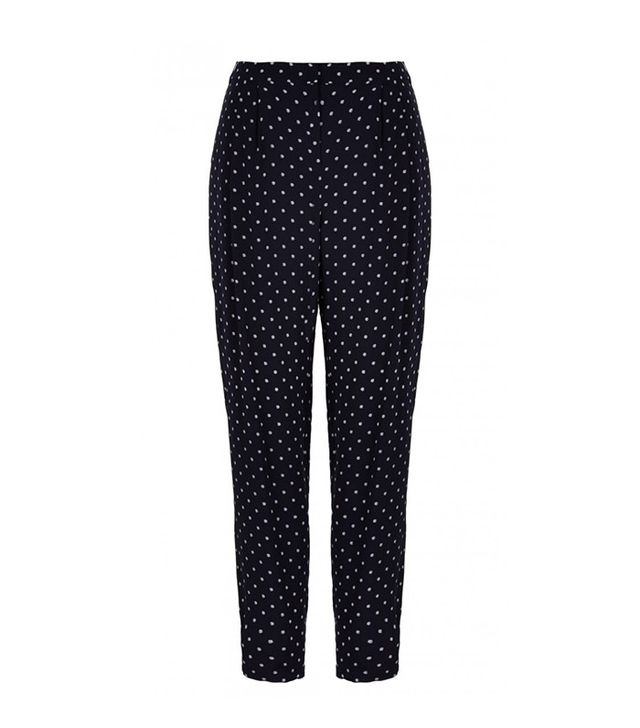 Tibi Diffusion Polka Dot Pleated Pants