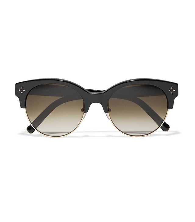 Chloé Cat-Eye Acetate and Metal Sunglasses