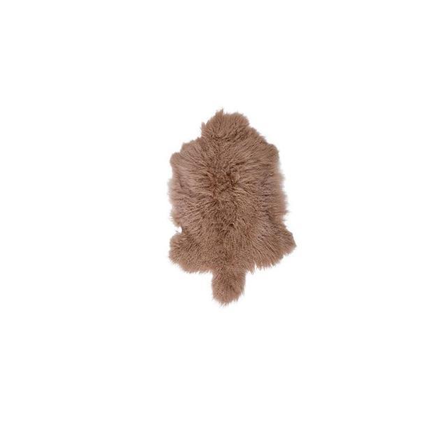 Temple & Webster Camel Mongolian Sheepskin