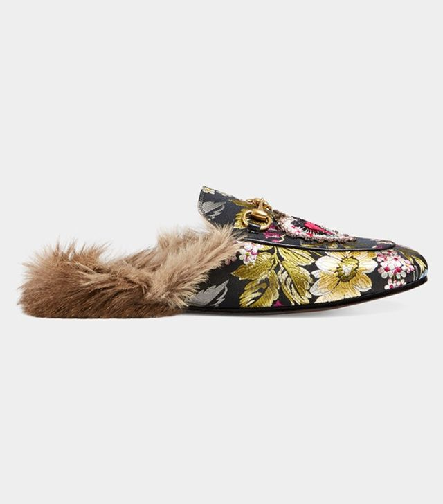 Gucci Princetown Floral Jacquard Slipper