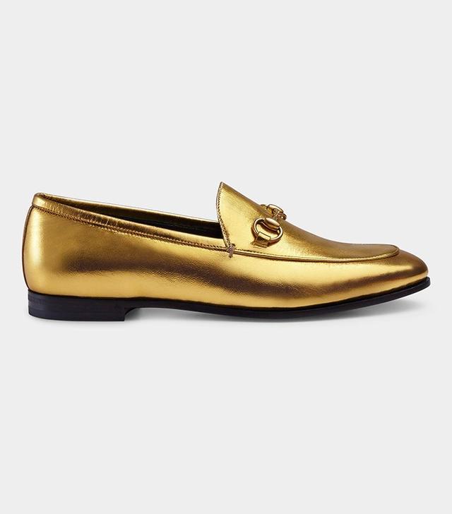 Gucci Jordaan Metallic Loafer