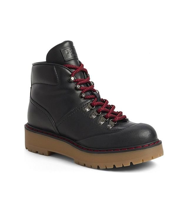 Prada Lace-Up Hiker Boots