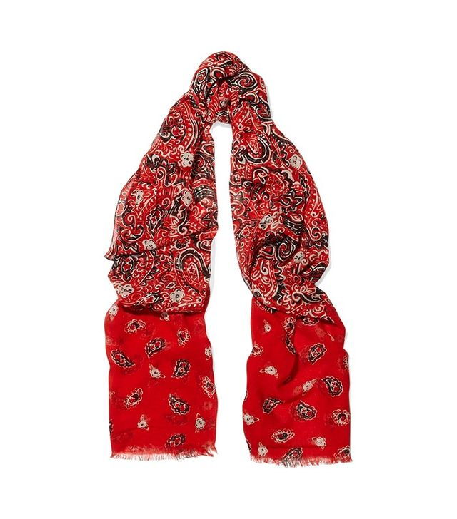 Marc Jacobs Paisley Printed Scarf