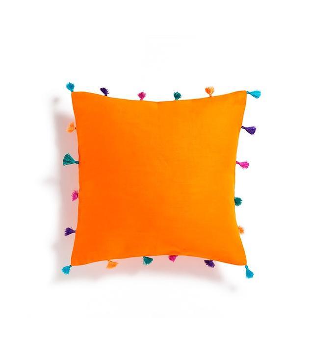 Zara Home Orange Appliqué Cushion