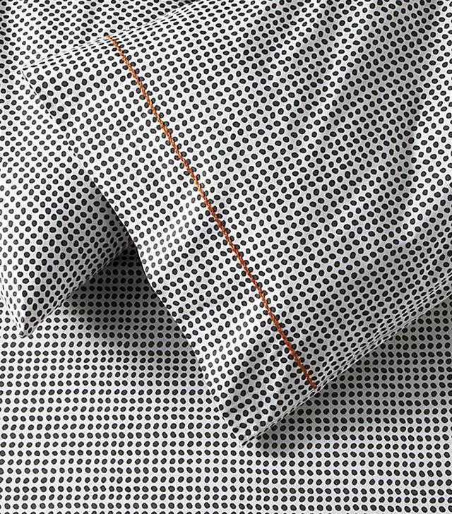 Crate and Barrel Pebble Slate Grey Sheet Set