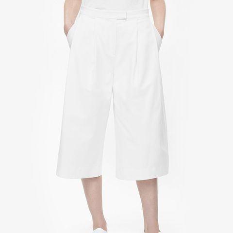 Rounded Wide-Leg Trousers