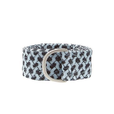 Scarf-Print Cotton Belt