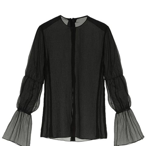 Tiered-Sleeves Organza Top