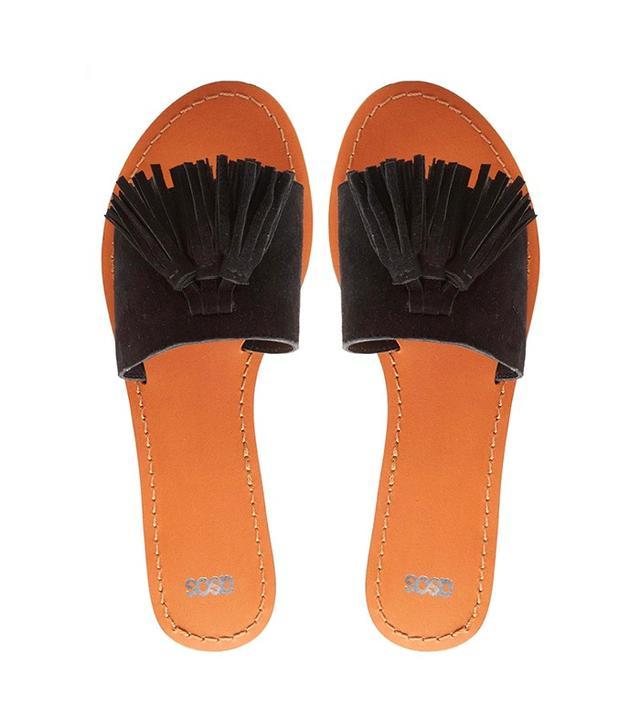 ASOS Filipa Leather Tassel Sandals