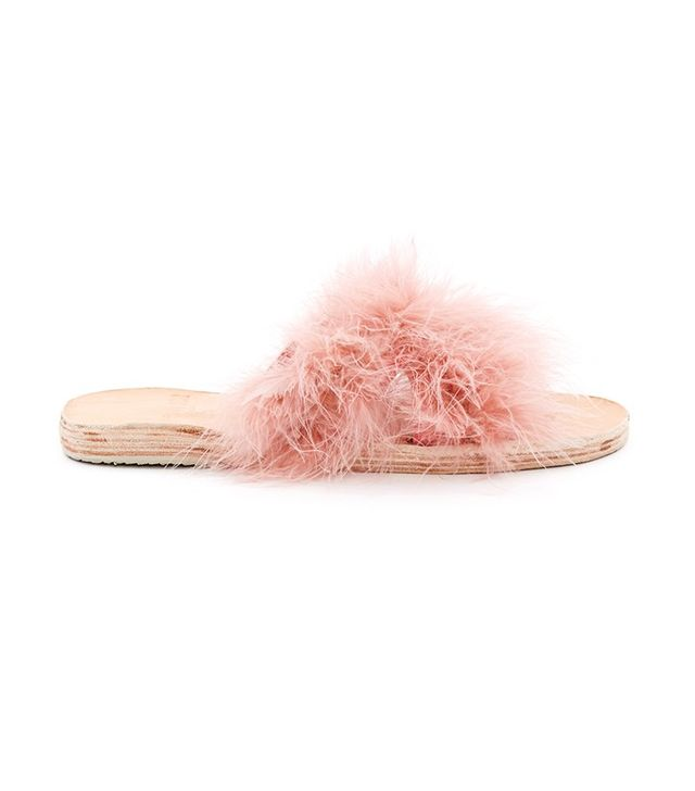 Brother Vellies Marabou Lamu Sandals
