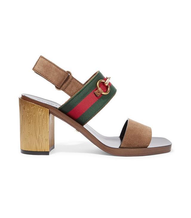 Gucci Horsebit-Detailed Suede Sandals