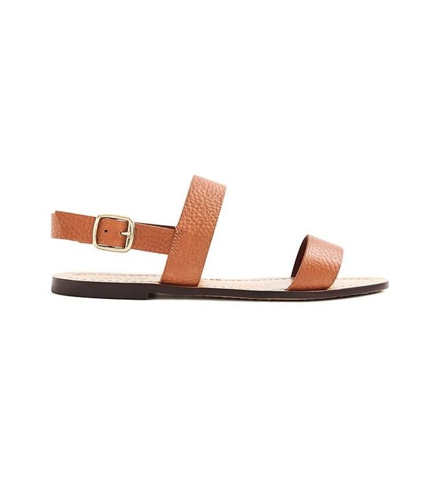J.Crew Jules Tumbled Leather Sandals