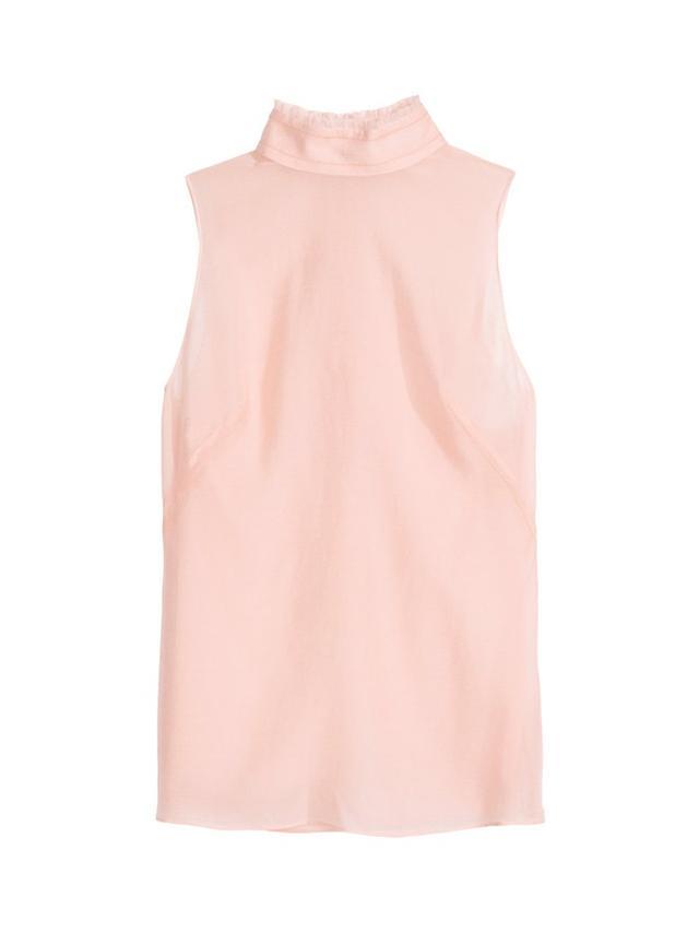 H&M Conscious Silk-Blend Chiffon Blouse