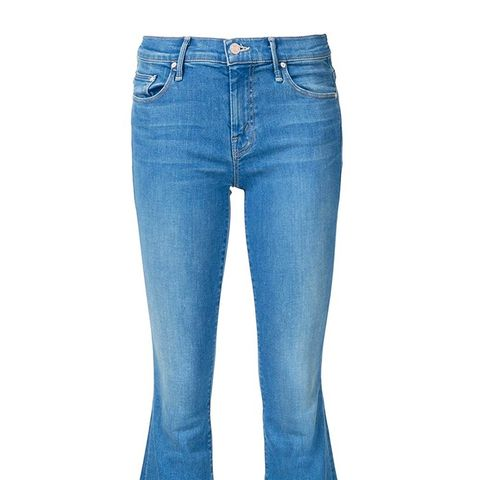 Frayed Hem Flared Jeans
