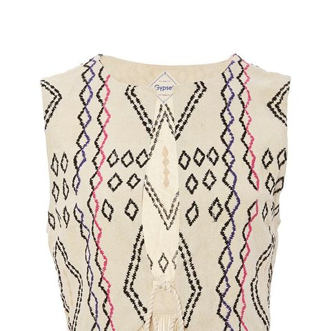 Silk Aztec Embroidered Ines Vest