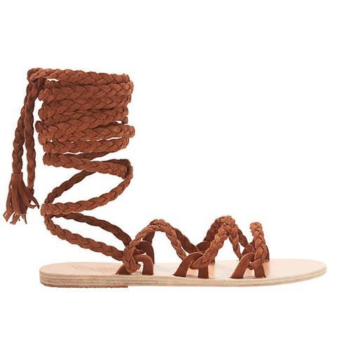 Kariatida Knee High Gladiator Flat Sandals