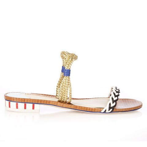 Celeste Braided-Leather Sandals