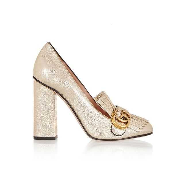 Gucci Cracked Leather Pumps