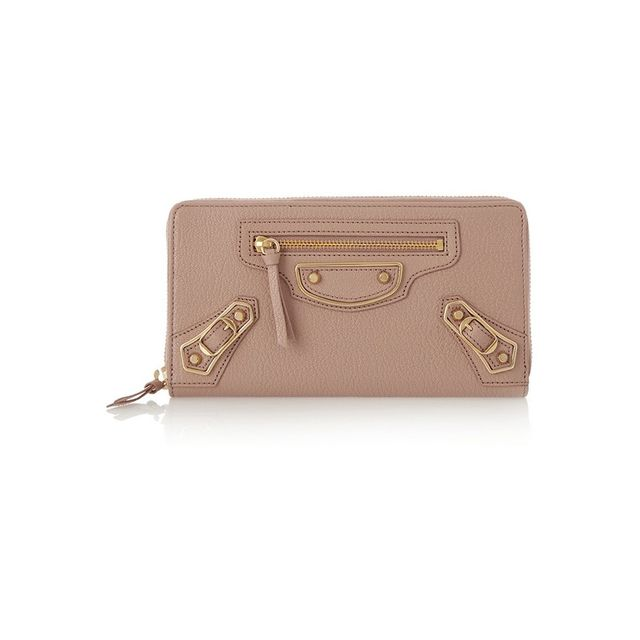 Balenciaga Holiday Collection studded textured-leather continental wallet