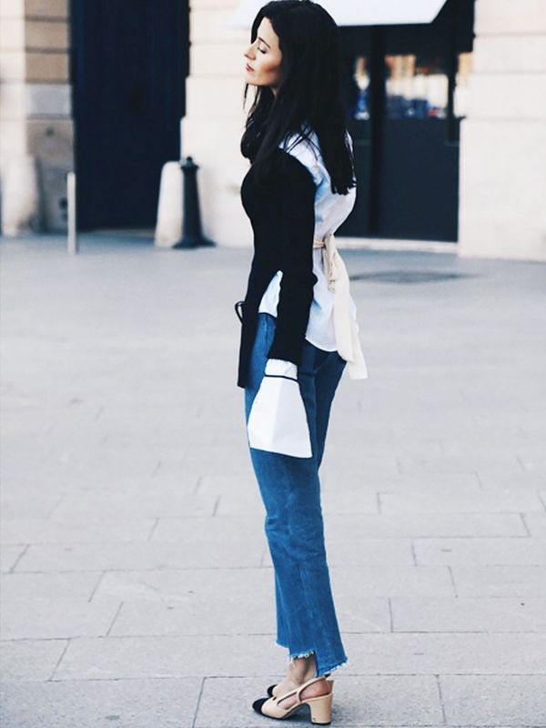 Style Notes: Sylvia Haghjoo of Hug Youhas us reaching for summer's backless tops already—just pop one over a white shirt and go.