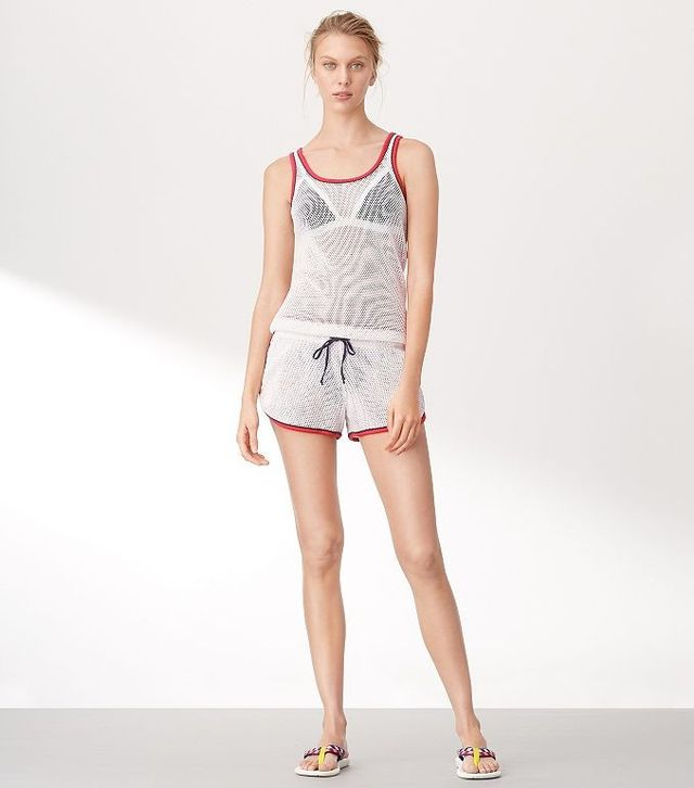 Tory Sport Mesh Cover-up
