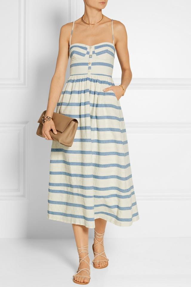 Mara Hoffman Striped Cotton Midi Dress