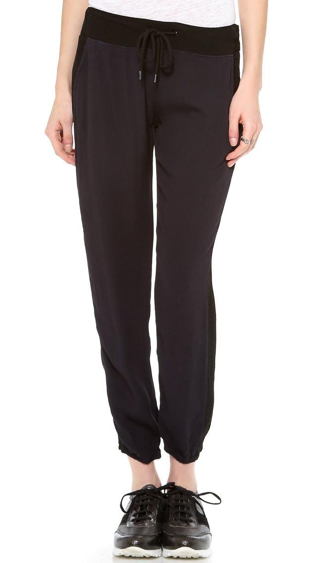 Monrow Crepe Basic Track Pants