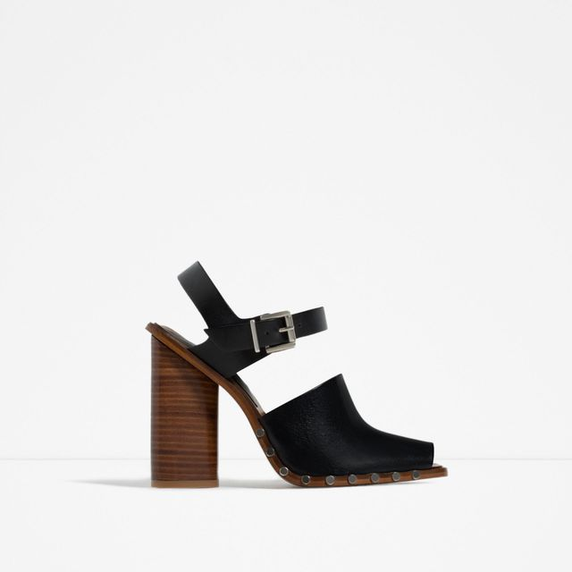 Zara Leather Studded Clogs
