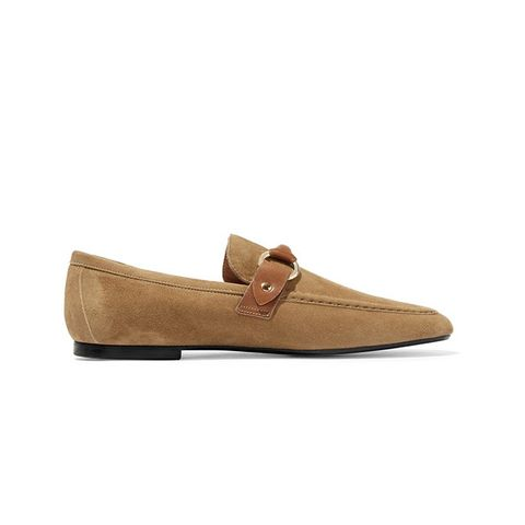 Farlow Leather-Trimmed Suede Loafers