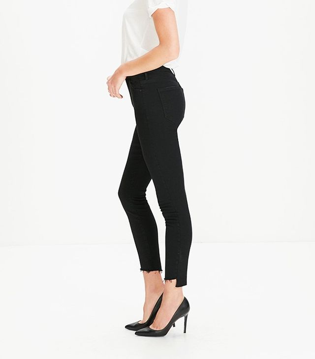 Mother Stunner Ankle Step Fray Jeans in Not Guilty