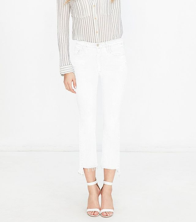 Mother Insider Crop Step Fray Jeans in Stayin' Alive