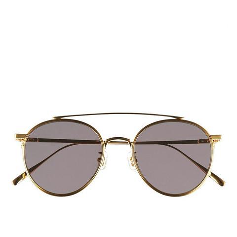 If on Metal Aviator Sunglasses