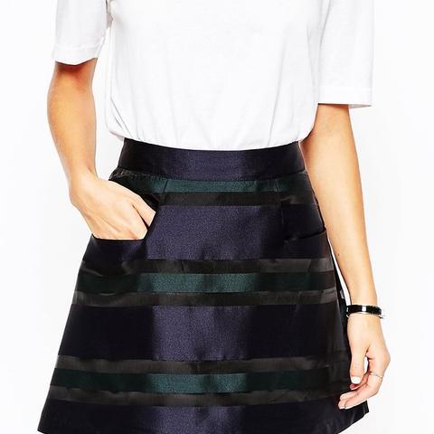 Mini Skirt in Stripe Organza