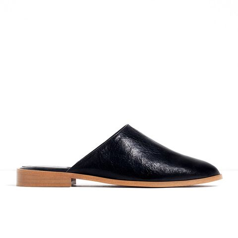 Flat Leather Slipper Shoes