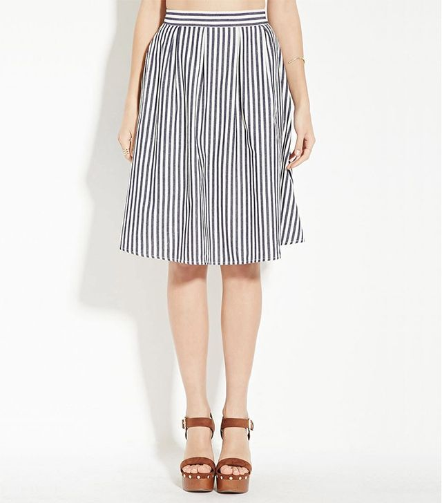 Forever 21 Contemporary Striped Skirt
