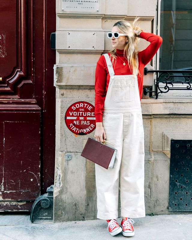 For a casual get-together, why not spring for something fun like overalls? While they're definitely laid-back, it's a relaxed event, right?
