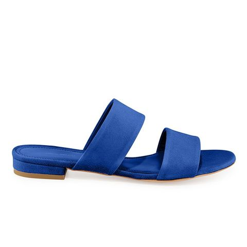 Suede Two-Band Sandals