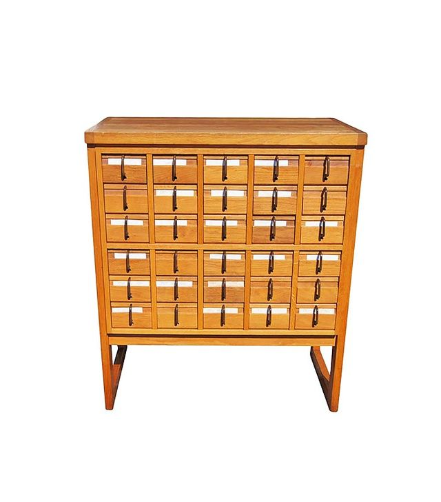 Thirty Drawer Oak Library Card Catalog File