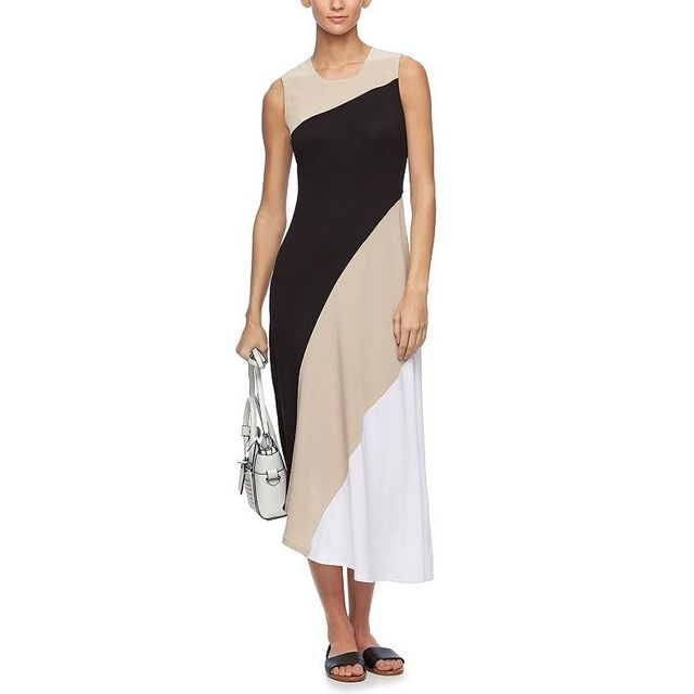 Reed x Kohl's Asymmetrical Colorblock Maxi Dress