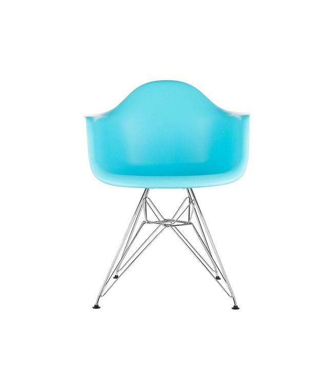 Poly and Bark Eames Style Molded Plastic Eiffel Armchair (DAR) Set of 2