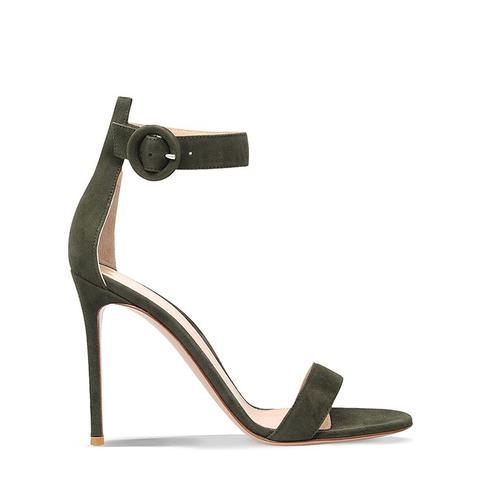 Como Suede Heeled Sandals