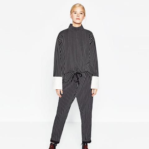 Contrast Stripes Suit Top